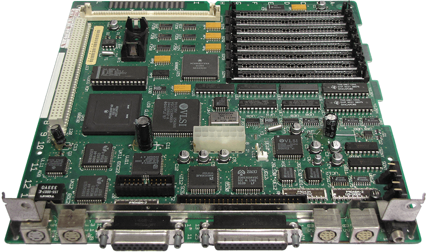 the recapped macintosh se/30 motherboard (p/n 661-0527)
