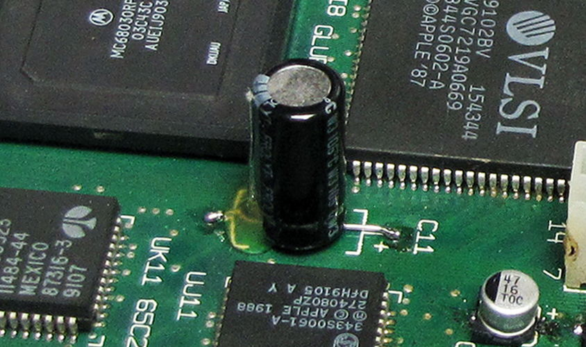the 220µF 16V electrolytic capacitor in C11